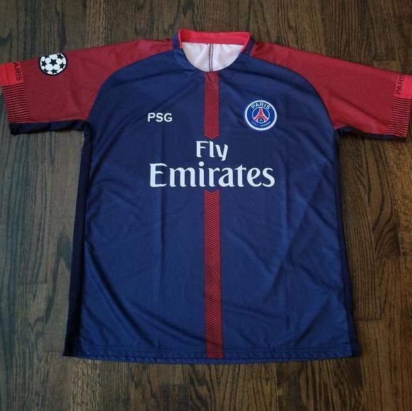 official photos c97a6 2dbdd PSG Jersey Paris Saint Germain men's soccer Jersey